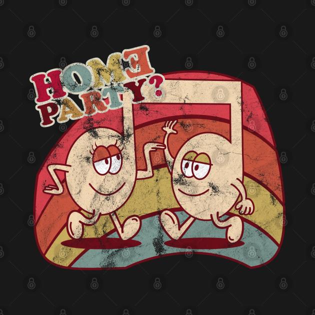 Homeparty Music Comic Retro