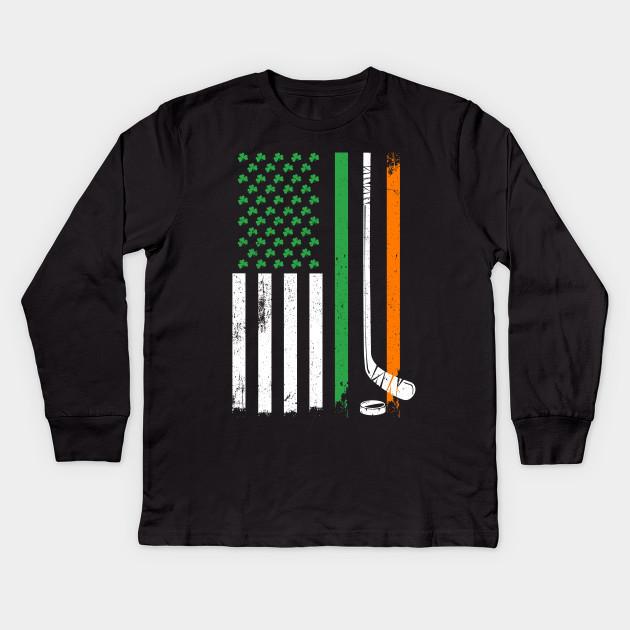 29ab71e435 Irish American Hockey Flag St Patricks Gifts - American Flag Hockey ...