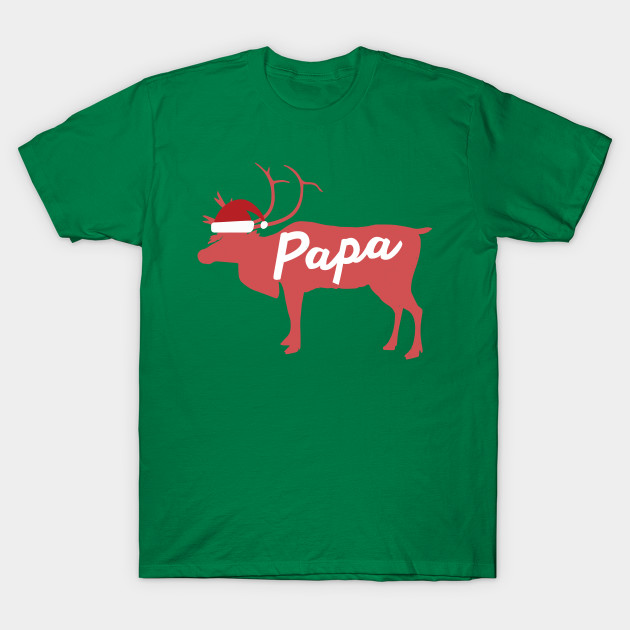 Papa Father Dad Reindeer Family Group Christmas Eve Matching T-Shirt