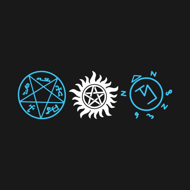Spiritual Symbols Angel And Demon Supernatural T Shirt Teepublic