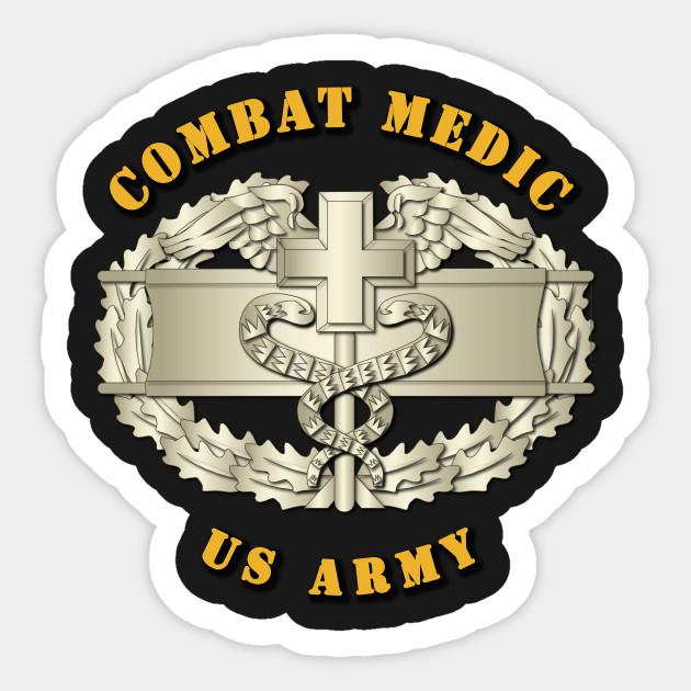 Combat Medic Badge Combat Medic Badge Sticker Teepublic
