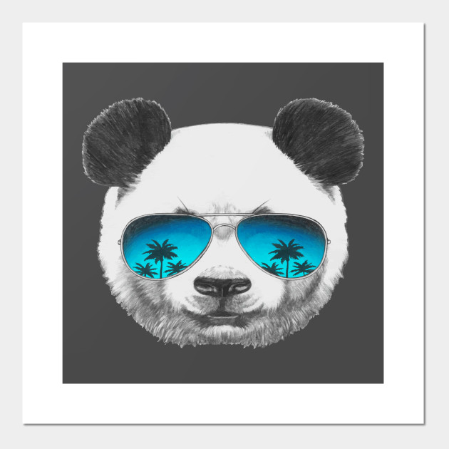Cool Panda wearing sunglasses