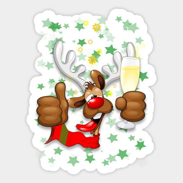 Reindeer Drunk Funny Christmas Character