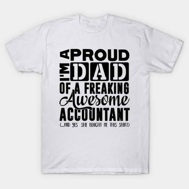 4dea5373 Accountant Dad - Men's Premium - Accountant Funny Gift - T-Shirt ...