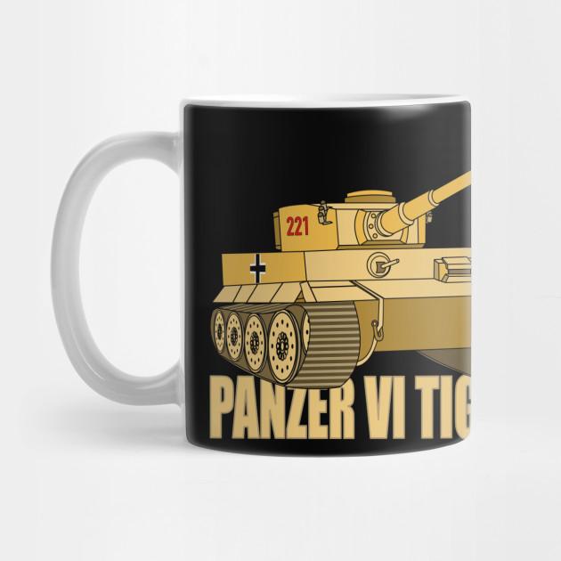 WW2 German Tiger Tank Coffee Mug Panzerkampfwagen 11oz Ceramic Cup WWII Panzer