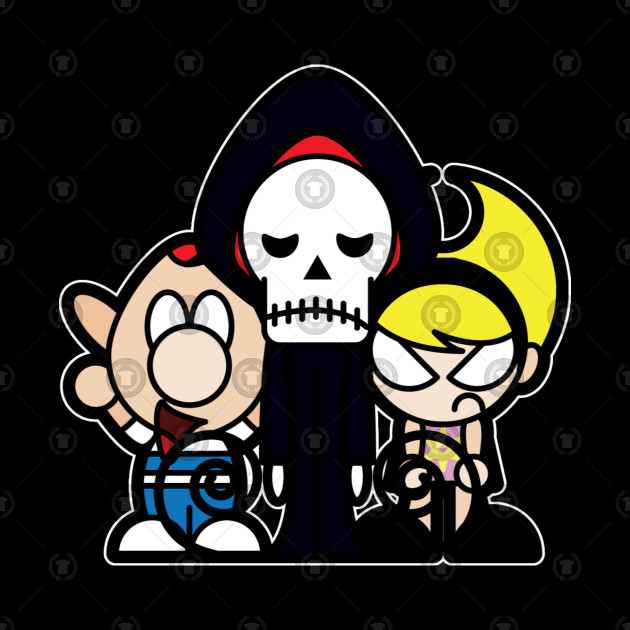 Billy, Grim, and Mandy Tooniefied
