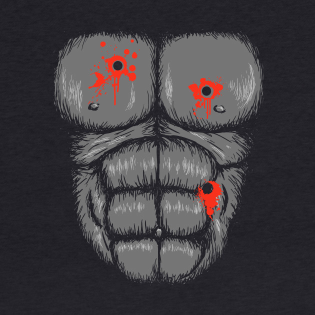 Harambe Halloween Costume T-Shirt - Gunshot Gorilla Chest Tee