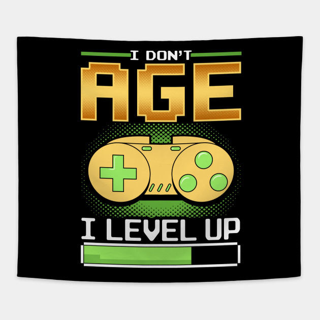 Funny Level Up Birthday Print Gift For Gamer Boyfriend Tapestry