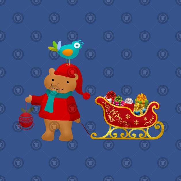 Merry Christmas Bear & Bird