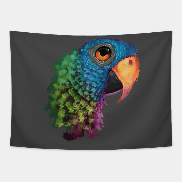 Blur Crowned Conure Gift for Parrot