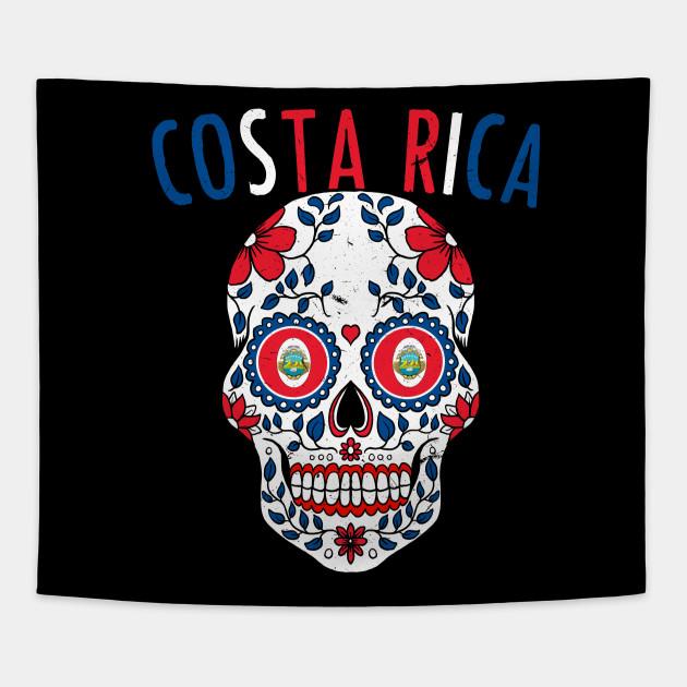 00398c3ae Calavera Costa Rica World Cup Team Flag Soccer Jersey Kosta Rika 2018  Tapestry