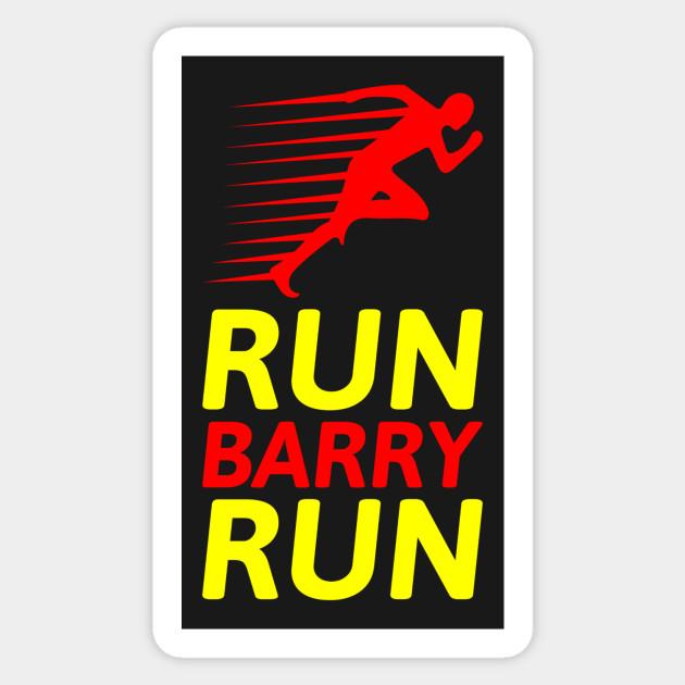 Run barry run sticker