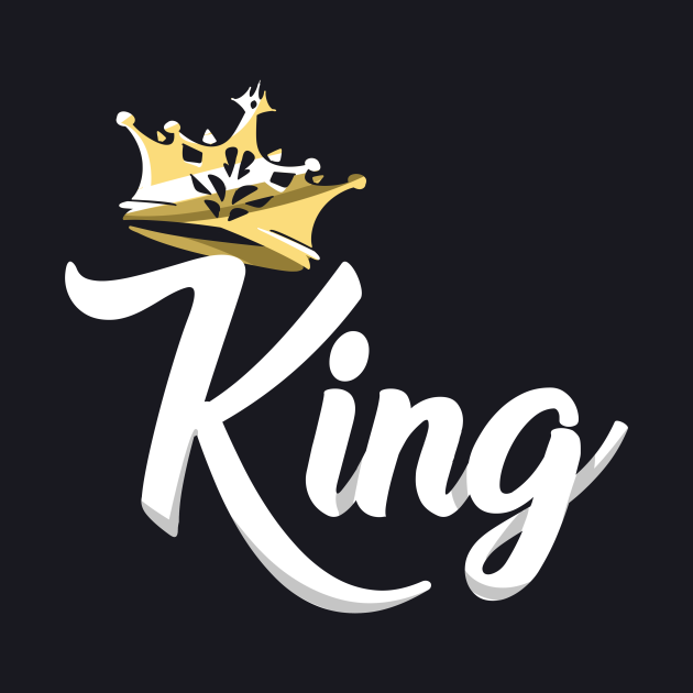 King and Queen Tshirts - King Design on Tshirt For Men
