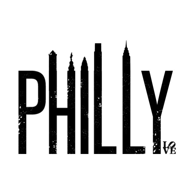 Philly Skyline (Distressed)