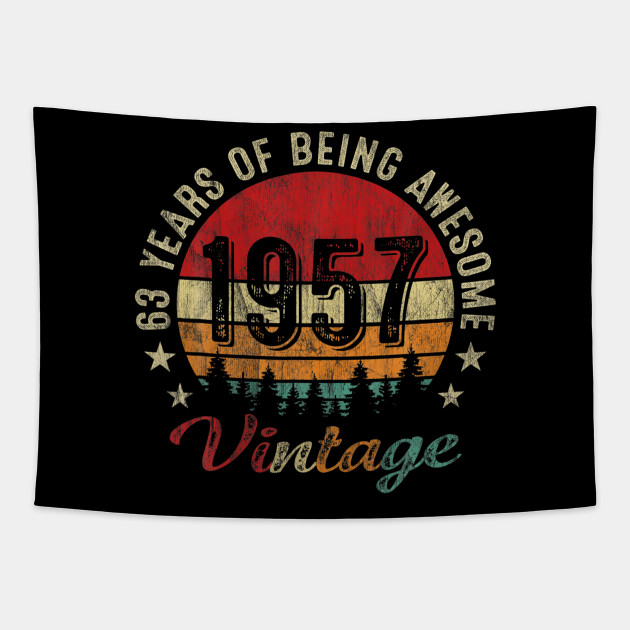 Born In 1957 63 Yrs Tee Vintage 63rd Birthday Gift Great