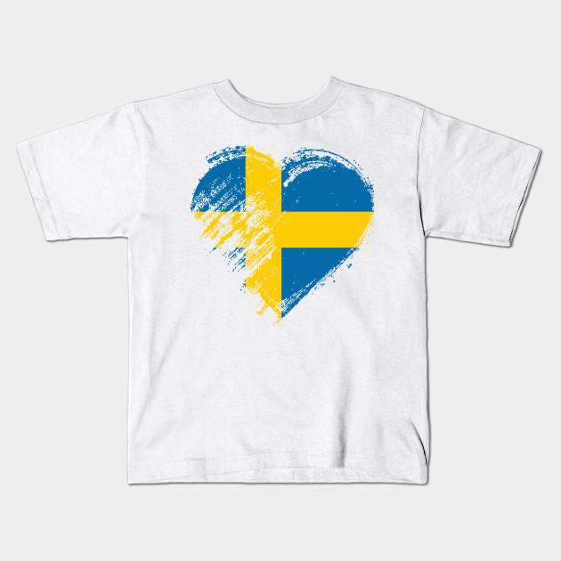 I Love Heart Sweden Kids T-Shirt