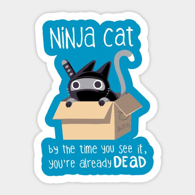 Ninja Cat - Ninja Cat - Sticker   TeePublic