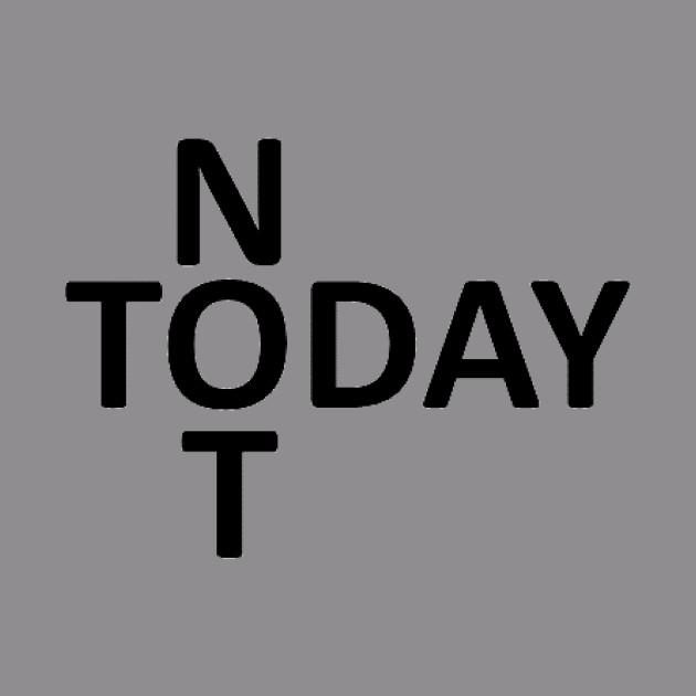 Not Today Black Cross
