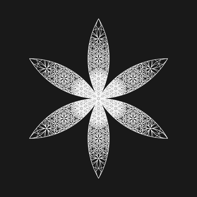 White Dimensional Flower