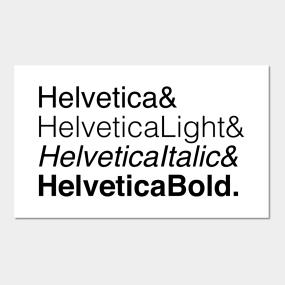 Carteles y Impresión Artística Helvetica Bold | TeePublic MX