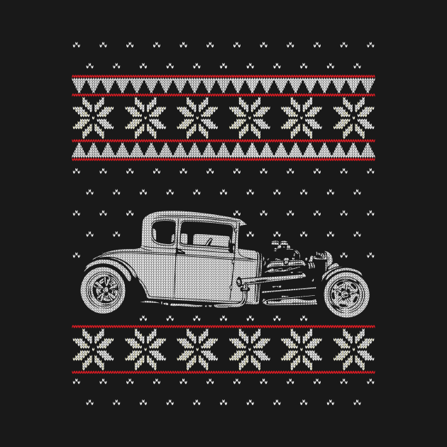 Old Car Ugly Christmas Sweater