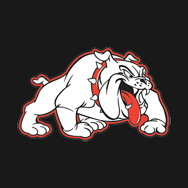 red bulldog logos white bulldog logo with red outline bulldogs t shirt 6128