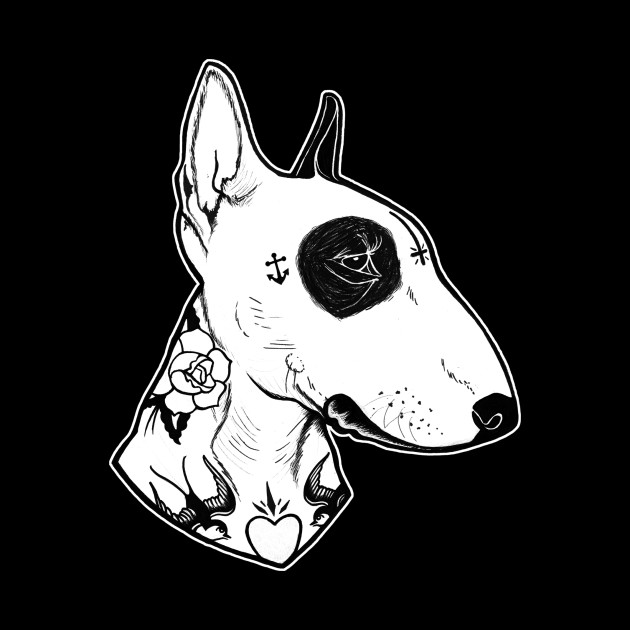 Dog Tattooed Bull Terrier