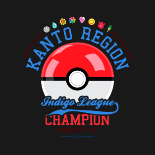 Kanto region Indigo league champion t-shirts