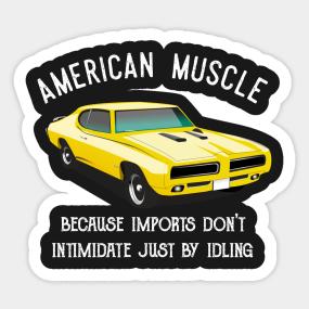 American Muscle Stickers Teepublic