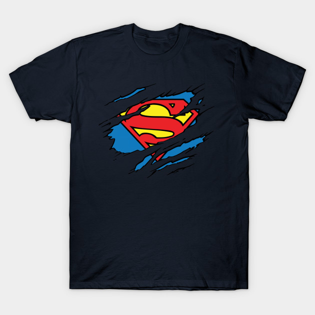 Superman Logo Ripped Justice League T Shirt Teepublic