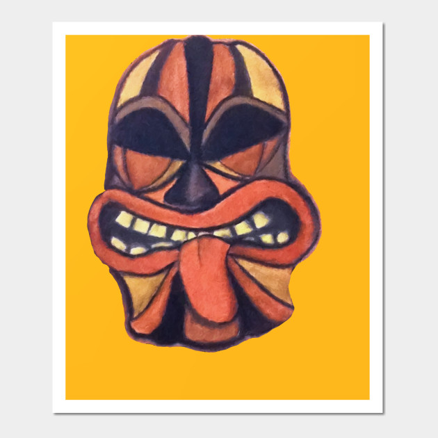 TIKI MASK - Tiki Mask - Wall Art | TeePublic