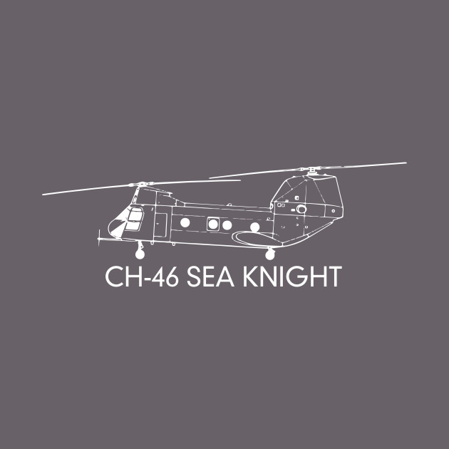 CH-46 Sea Knight Tandem-rotor Transport Helicopter