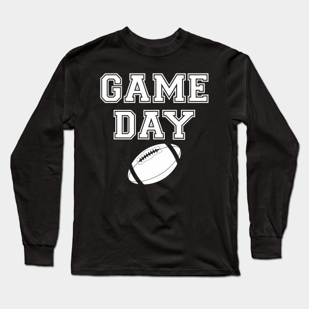 Game Day Fall Football Tailgate Fan Graphic Long Sleeve Printed Sweatshirt Shirt