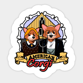 American Gothic Stickers