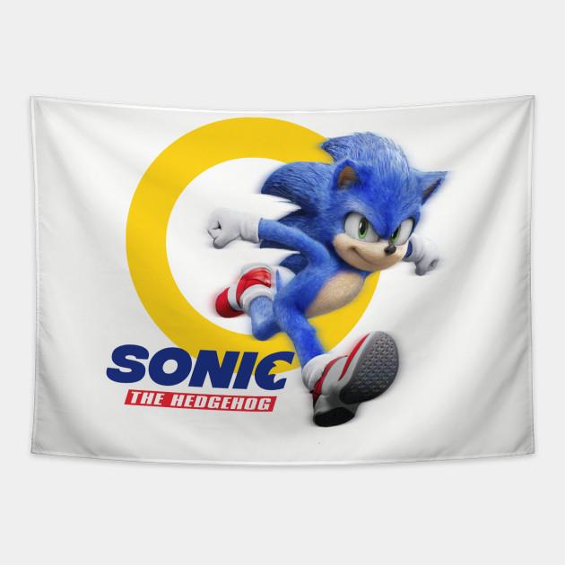 Sonic The Hedgehog Movie 2020 Sonic The Hegdehog Tapestry Teepublic