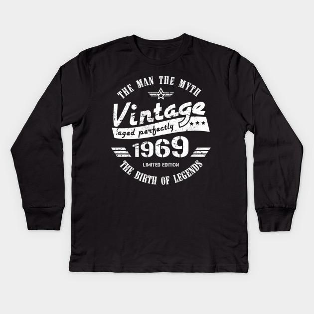 Men/'s Vintage 1969 50th Birthday T-Shirt Classic Fifty Shirt Gift Idea 50th Birt