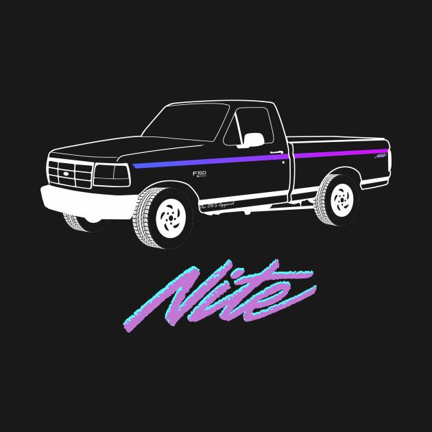 1992-1996 F150 Nite Edition White Print