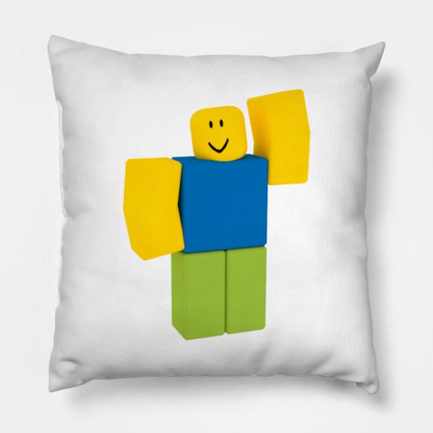 Roblox Noob Roblox Pillow Teepublic