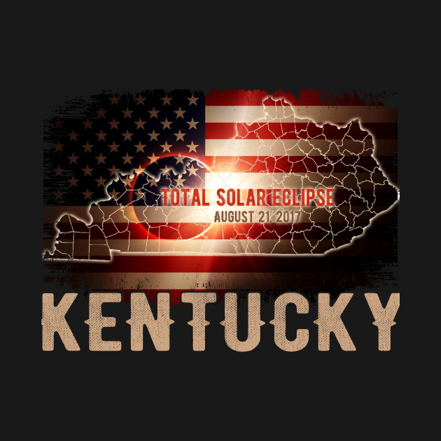 Total Solar Eclipse Shirts Gifts, KENTUCKY US Flags