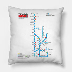 Dc Subway Map Pillow.Serials Pillows Teepublic