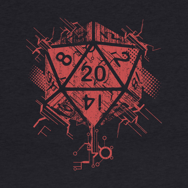 D20 of power red
