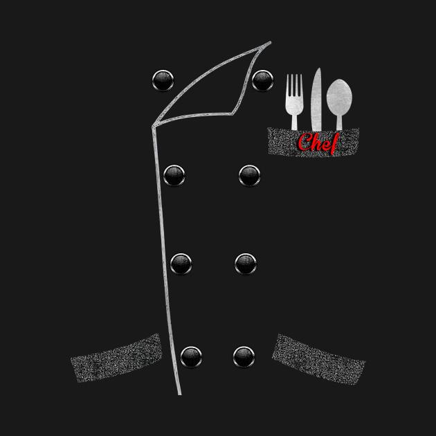 Chef's Uniform Jacket TShirt Chef Dad Gift Culinary T-Shirt