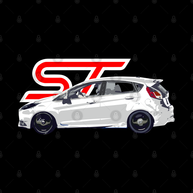 Ford Fiesta ST Oxford White Racing