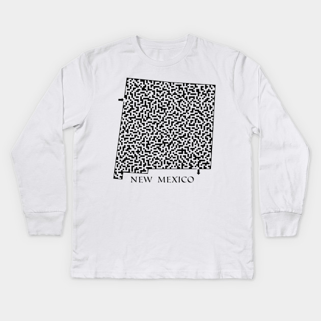 17c00ff592a State of New Mexico Maze - New Mexico - Kids Long Sleeve T-Shirt ...