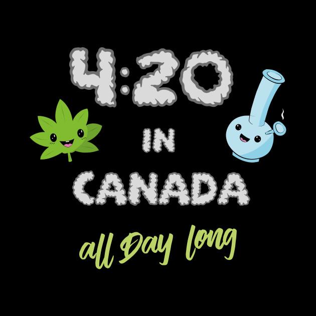 Funny Weed Canada stoner ganja gift 420 by mrteee