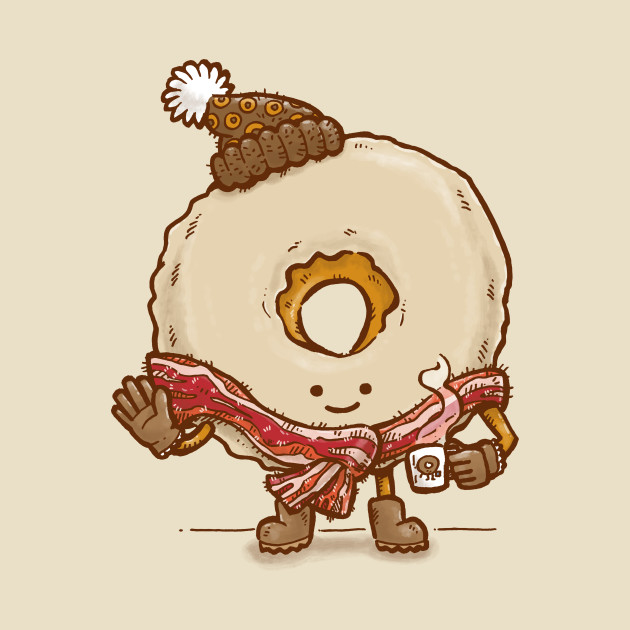 Bacon Scarf Maple Donut