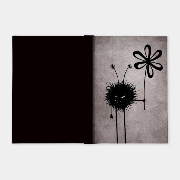Evil Creature With Flower Vintage Texture