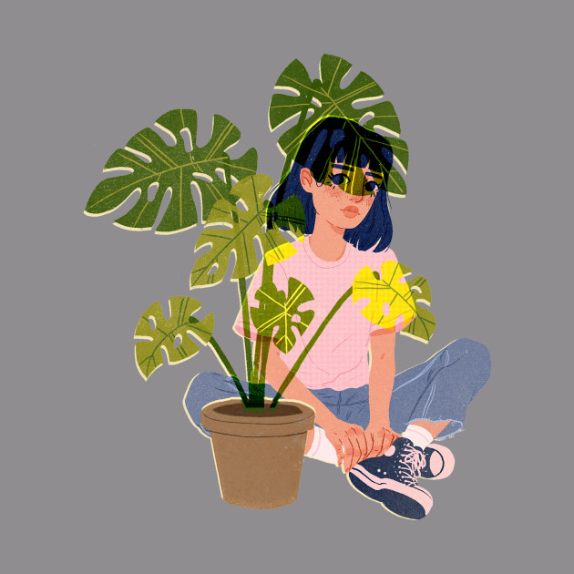 Pink Plant Girl