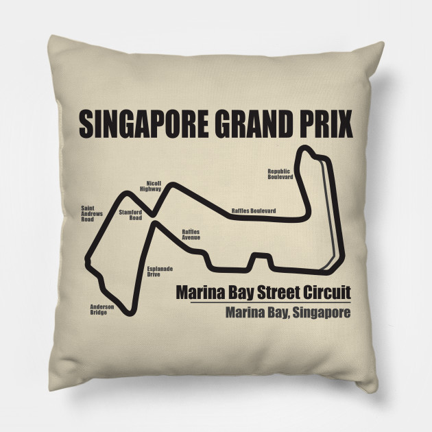 Singapore Grand Prix LS Singapore Grand Prix Throw Pillow