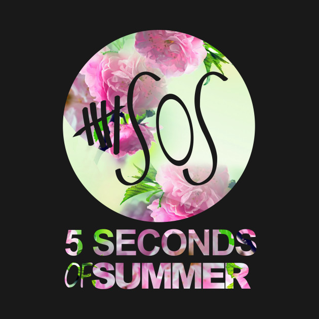 d496e9c74abb ... 5SOS Five Seconds Of Summer Logo Circle Floral Flowers 1 One Direction